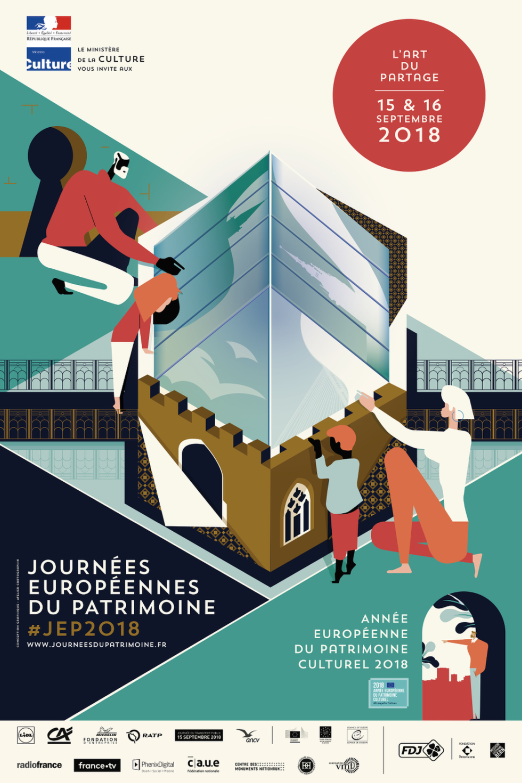 L'affiche des journées du patrimoine 2018