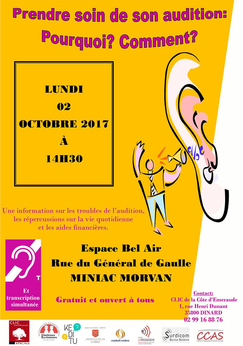 Conference_prendre_soin_de_son_audition Miniac Morvan le 2 octobre 2017